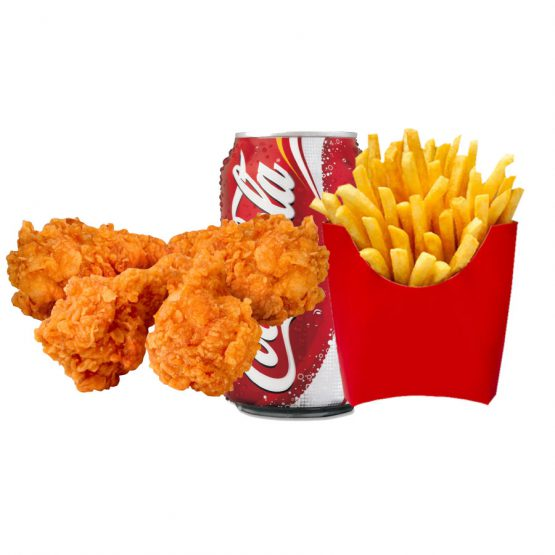 meal deals 4 hot wings chips can