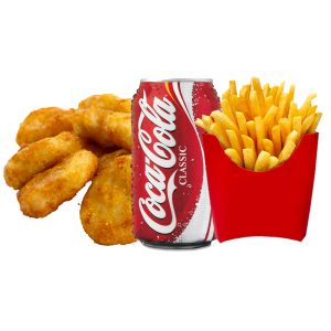 meal deals 5 pcs chicken nuggets chips can