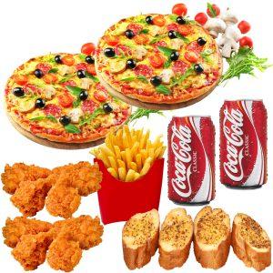 2x 7inch pizza