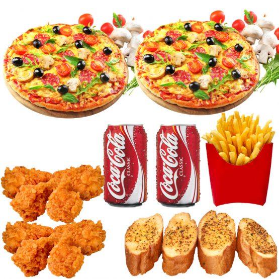 any 2x 10inch pizza